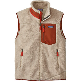Patagonia Classic Retro-X Weste Herren natural w/barn red